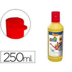 Pintura multiuso Jovidecor 250 ml color amarillo