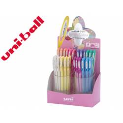 Expositor Boligrafo uni ball um-120 signo 0,7 mm tinta gel Con 48 unidades Colores pastel