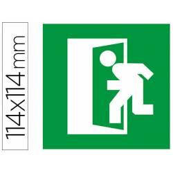 Etiqueta adhesiva Apli de señalizacion simbolo puerta de salida de emergencia