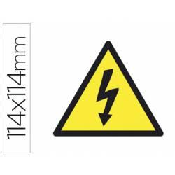 Etiqueta adhesiva Apli de señalizacion simbolo alta tension