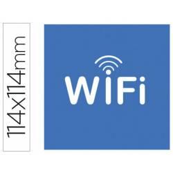 Etiqueta adhesiva Apli de señalizacion simbolo wifi