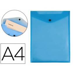Carpeta Liderpapel dossier broche polipropileno din A4 azul