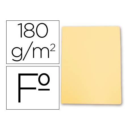 Subcarpetas de cartulina Gio folio amarillo pastel 180 g/m2