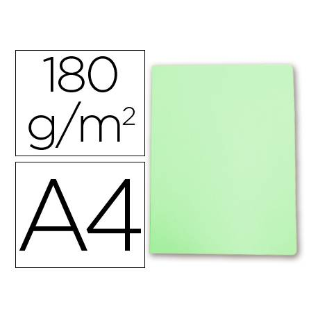 Subcarpeta de cartulina Gio Din A4 verde pastel 180 g/m2