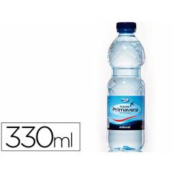 Agua mineral natural Fuente Primavera botella 330 ml