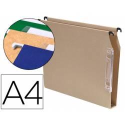 Carpeta colgante marca Gio A4 visor lateral kraft