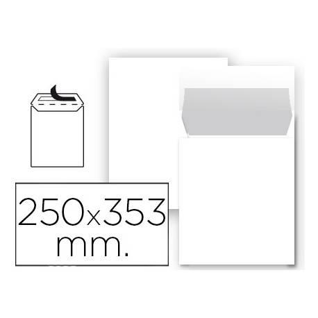 Sobre bolsa Liderpapel N10 blanco Folio prolongado Caja 25