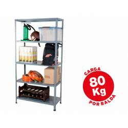 Estantería AR Storage metálica con 5 estantes 80 kg