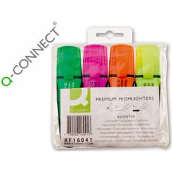 Rotulador Q-connect estuche de 4 colores