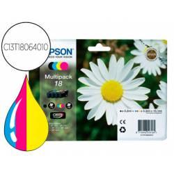 Cartucho Epson C13T18064010 colores negro amarillo cian y magenta. Epson 18