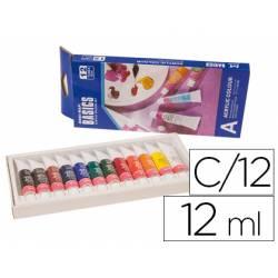 Pintura acrilica Artist con 12 colores surtidos