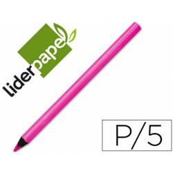 Lapiz de color marca Liderpapel jumbo neon rosa triangular