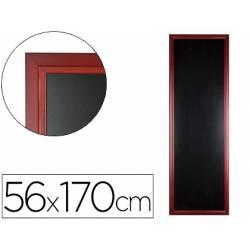 Pizarra Liderpapel mural negra de madera 56x170 cm