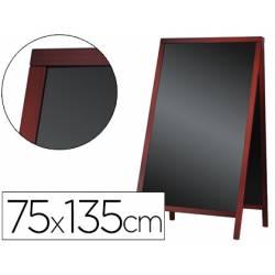 Pizarra Liderpapel negra de madera para suelo 75x135x52 cm