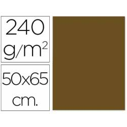 Cartulina Liderpapel color marron 50x65 cm 240g/m2
