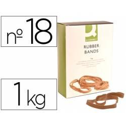 Bandas elasticas N 18 Q-connect 1000 gr 180 x 16 mm