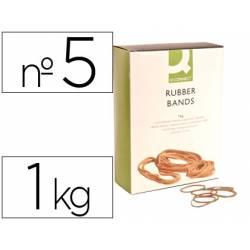 Gomillas elasticas Q-connect 1000 gr numero 5