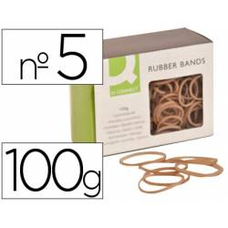 Gomillas elasticas Q-connect 100 gr numero 5