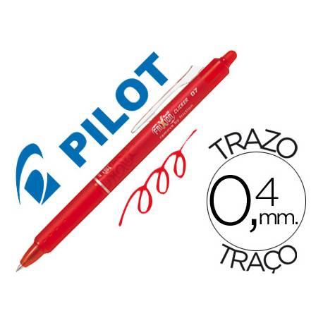 Boligrafo Borrable Pilot Frixion retractil 0,4 mm Color Rojo
