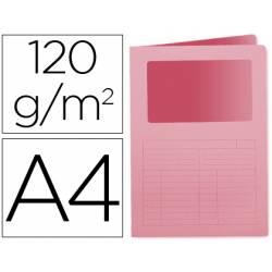 Subcarpeta de cartulina Q-Connect Din A4 color rosa
