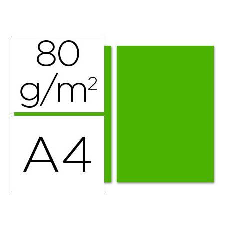 Papel color Liderpapel color verde intenso a4 80 g/m2 100 hojas