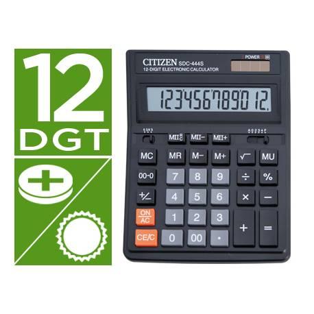 Calculadora sobremesa Citizen Modleo SDC-444S 12 digitos
