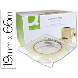 Cinta adhesiva marca q-connect 66 mt x 19 mm encelofanada