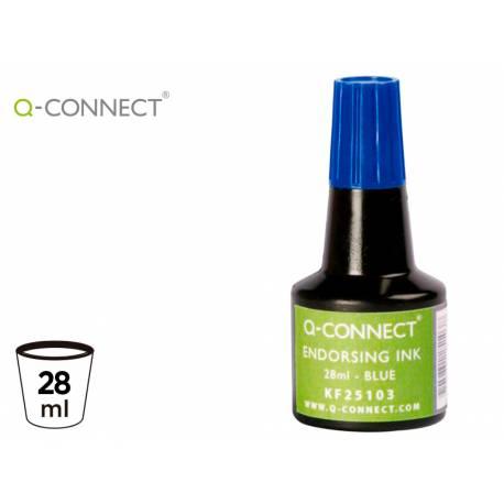 Tinta tampon Q-Connect azul de 28 ml