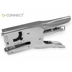 Grapadora q-connect Tenaza metalizada cromada