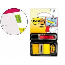 Banderitas separadoras marca Post-it ® con dispensador