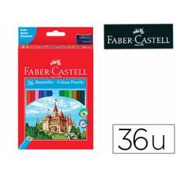 Lapices de colores Faber-Castell hexagonal caja 36 unidades + sacapuntas