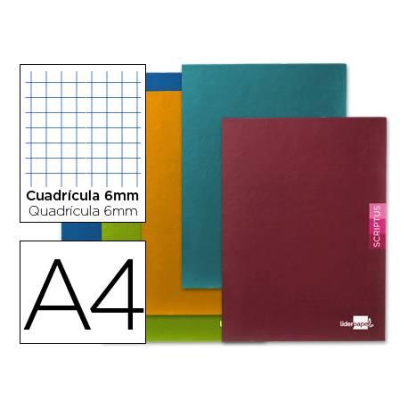 Libreta escolar Scriptus Liderpapel cuadricula 6 mm tamaño DIN A4 48 hojas