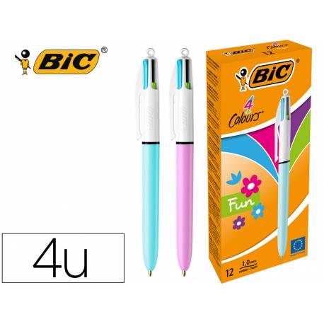 Boligrafo marca Bic 4 colores pastel 0,4 mm