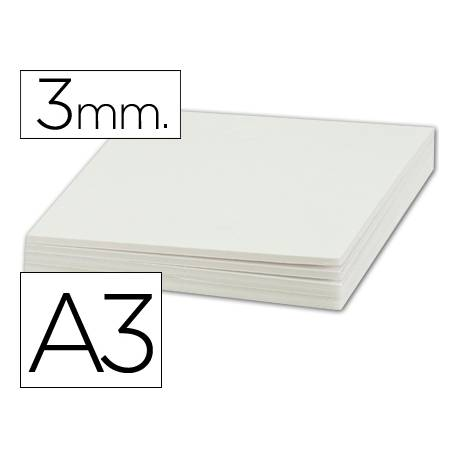 Carton pluma Liderpapel doble cara blanco Din A3 Espesor 3 mm