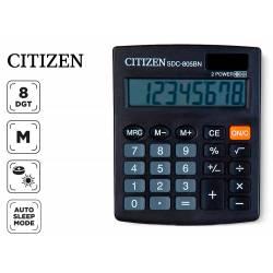 Calculadora sobremesa Citizen SDC-805BN negra 8 digitos