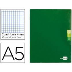 Libreta escolar Liderpapel Scriptus verde cuadricula 4mm 48 hojas tamaño DIN A5