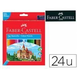 Lapices de colores Faber-Castell hexagonal caja 24 unidades madera reforestada