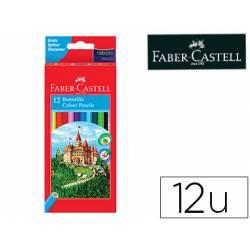 Lapices de colores Faber-Castell hexagonal caja 12 unidades + sacapuntas