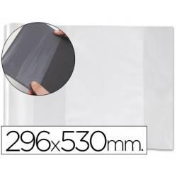Forralibro PVC con solapa y ajustable adhesivo