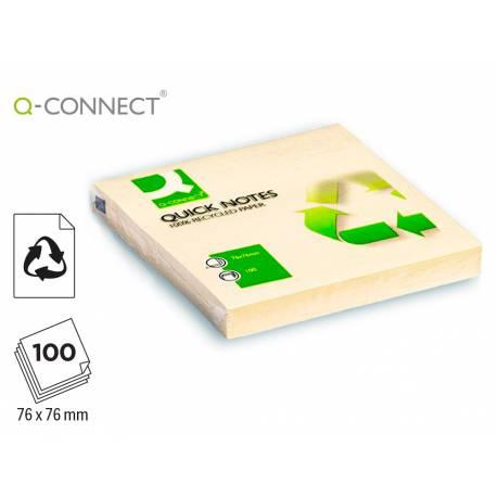 Bloc de notas adhesivas quita y pon Q-Connect reciclado