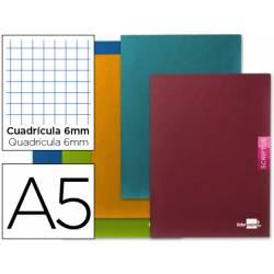 Libreta escolar Liderpapel Scriptus cuadrícula 6mm 48 hojas tamaño DIN A5