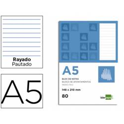 Recambio Liderpapel Din A5 60 gr rayado horizontal 7 mm