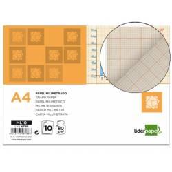 Papel milimetrado marca Liderpapel Din A4
