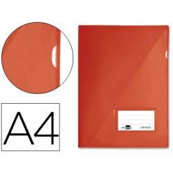 Funda dossier uñero con solapa Liderpapel Din A4 color rojo