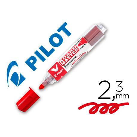 Rotulador Pilot Vboard Master color rojo