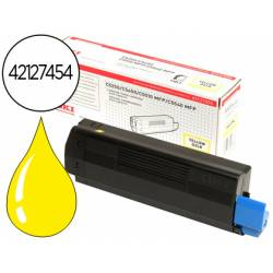Toner OKI amarillo XL -5000 pag- type c6 (42127454) C5250 C5450 C5510mfp C5540mfp