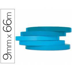 Cinta precintadora marca Q-Connect 66mx9mm azul