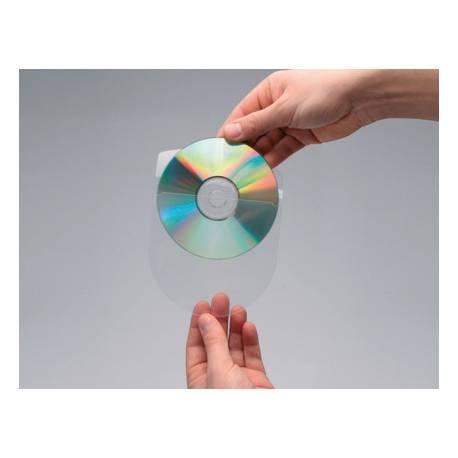 Funda autoadhesiva CD marca Q-Connect con solapa