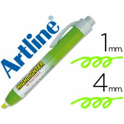 Rotulador Artline clix color verde fluorescente 4mm