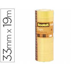 Cinta adhesiva marca Scotch 508 acordeon paquete de 8 rollos